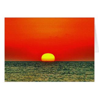 Coucher du soleil au-dessus du Med Carte De Correspondance