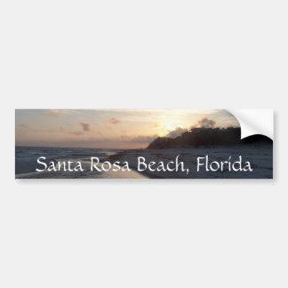 Coucher du soleil au passage, plage de Santa Rosa, Autocollant De Voiture