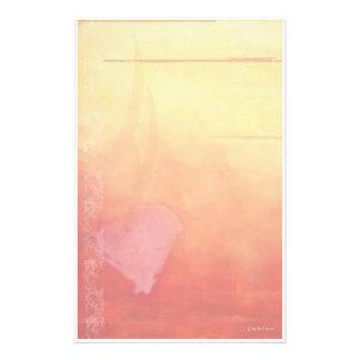 Coucher du soleil Coeur-Stationnaire Papier À Lettre Customisé