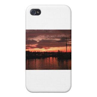 Coucher du soleil de Bristol Île de Rhode Étui iPhone 4