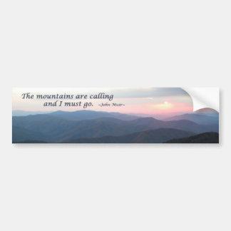 Coucher du soleil de GSMNP : Les montagnes sont Autocollant De Voiture