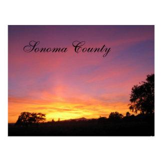 Coucher du soleil de Santa Rosa Cartes Postales