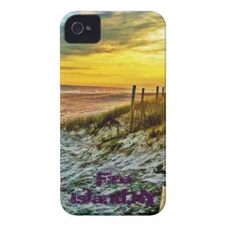 Coucher du soleil d'île du feu sur la plage coque iPhone 4