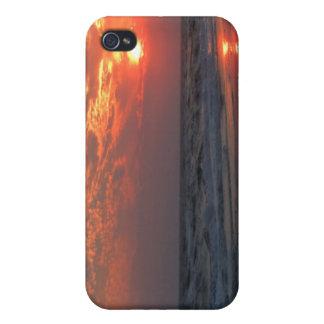 Coucher du soleil d'océan - île de chêne, OR Étui iPhone 4