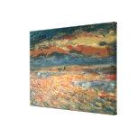 Coucher du soleil en mer par Pierre Renoir, Impressions Sur Toile