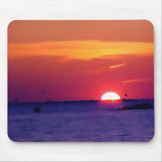 Coucher du soleil Mousepad d'île Tapis De Souris