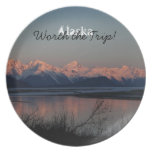 Coucher du soleil Pacifique ; Souvenir de l'Alaska Assiette Pour Soirée