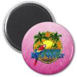 Coucher du soleil rose de Key West Aimants