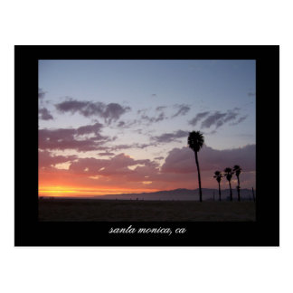 coucher du soleil Santa Monica Ca Carte Postale