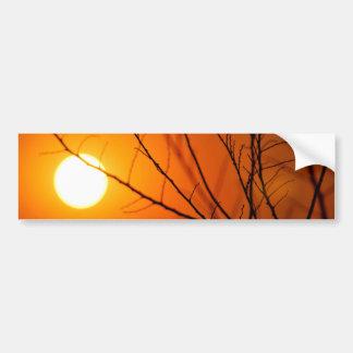 Coucher du soleil suspendu autocollant de voiture