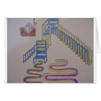 Couches with stairways and wriggling mats card