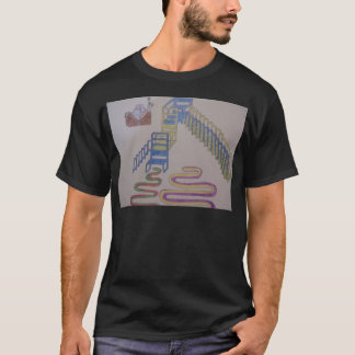 Couches with stairways and wriggling mats T-Shirt