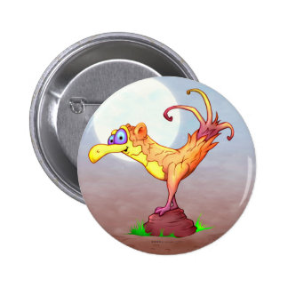 COUCOU BIRD FUNNY SMALL BUTTON 2¼ Inch