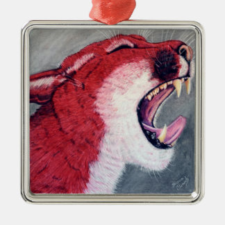 coug1.JPG Metal Ornament