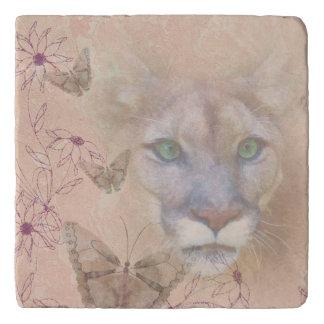 Cougar and Butterflies Trivet