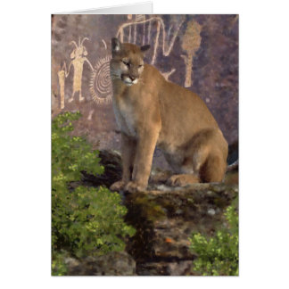 Cougar and Pictographs Card