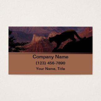 Cougar and the Grand Canyon Business Card