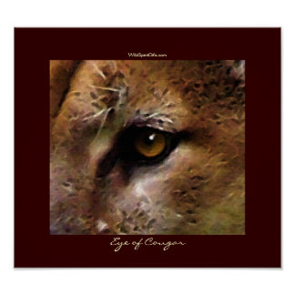 COUGAR EYE Art Poster