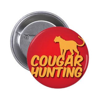 COUGAR Hunting with panther cat Buttons