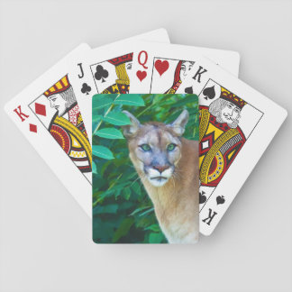 Cougar in the Jungle Playing Cards