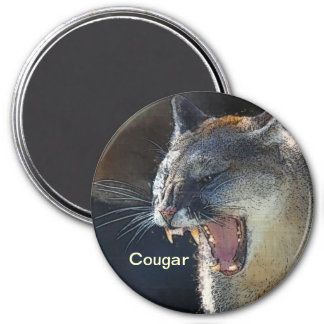 Cougar Mountain Lion Big Cat Art Magnet