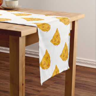 Cougar Mountain Lion Head Mono Line Short Table Runner