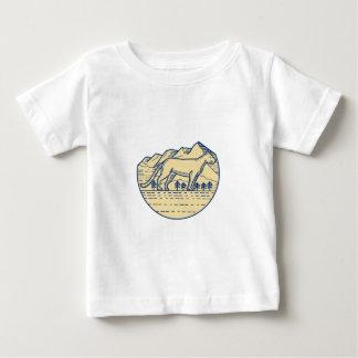 Cougar Mountain Lion Tree Mono Line Baby T-Shirt