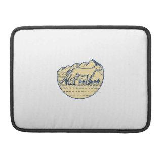 Cougar Mountain Lion Tree Mono Line Sleeve For MacBooks