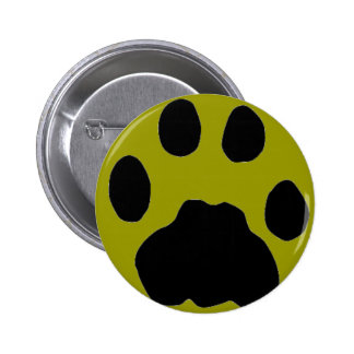 COUGAR PAW PRINT 2 INCH ROUND BUTTON
