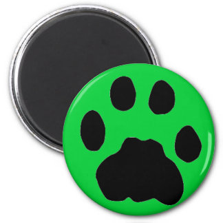 COUGAR PAW PRINT 2 INCH ROUND MAGNET