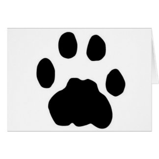 COUGAR PAW PRINT GREETING CARD