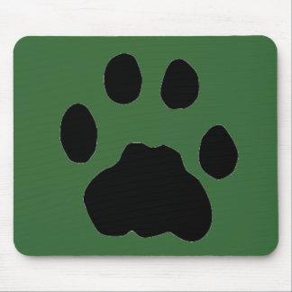 COUGAR PAW PRINT MOUSE PAD