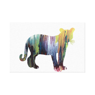 Cougar / Puma art Canvas Print