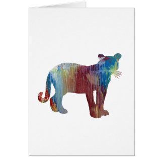 Cougar / Puma art Card