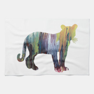 Cougar / Puma art Kitchen Towel