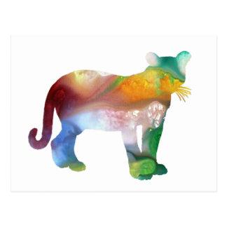 Cougar / Puma art Postcard