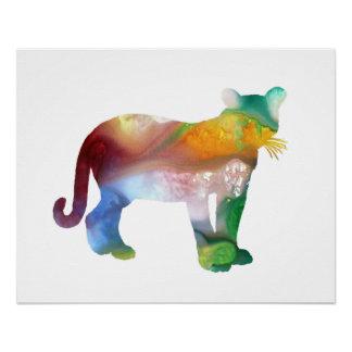 Cougar / Puma art Poster