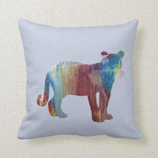 Cougar / Puma art Throw Pillow