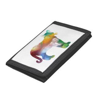 Cougar / Puma art Tri-fold Wallets