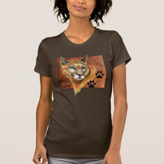 Cougar, Puma, Mountain Lion, Animal Tracks T-Shirt