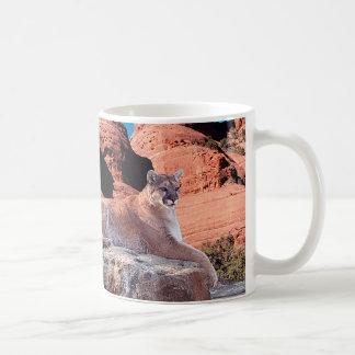 Cougar Resting on Rock - Coffee Mug