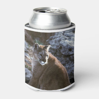 Cougar sitting can cooler