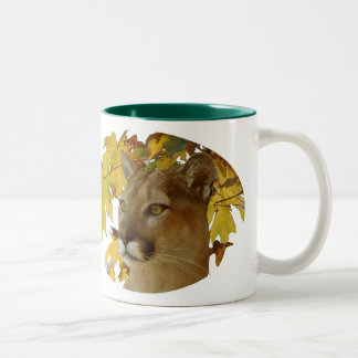 COUGAR UNDER MAPLE COFFEE MUGS