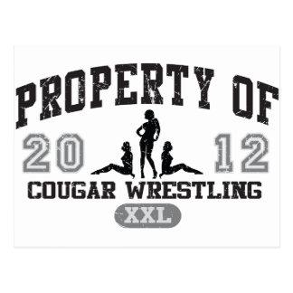 Cougar Wrestling Postcard