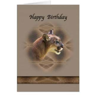 Cougar's Birthday Greeting Card