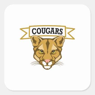 COUGARS SQUARE STICKER
