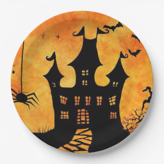 Could Get Spooky! Halloween Party Paper Plates 9 Inch Paper Plate