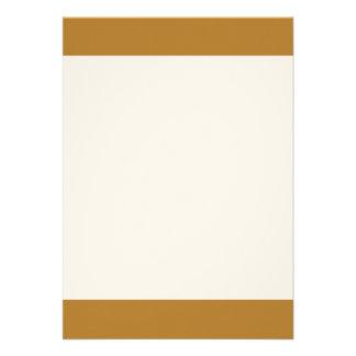 Couleur ambre simple d'or carton d'invitation  12,7 cm x 17,78 cm