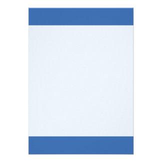 Couleur bleue simple de filet carton d'invitation  12,7 cm x 17,78 cm