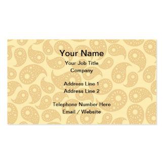 Couleur bronzage Paisley Carte De Visite Standard